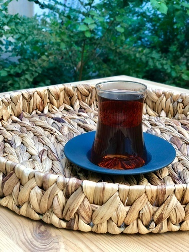Naturel Galvaniz Derin Çay Tabağı 12.5 Cm Mat Siyah Siyah